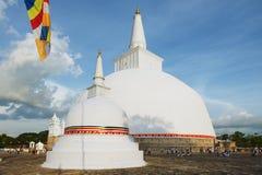 People visit Ruwanwelisaya stupa in Anuradhapura, Sri Lanka. Stock Photo