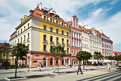 People visit Rynek (Market Square) in Wroclaw Stock Photography