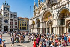 People visit the San Marco square in Venice Stock Photography
