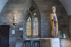 People visit the Sanctuary at the Cloisters museum in New York Royalty Free Stock Photos