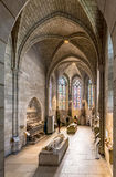 People visit the Sanctuary at the Cloisters museum in New York Stock Photos