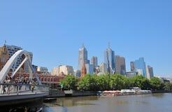 Southbank cityscape Melbourne Australia royalty free stock photo