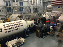 People visit Space center in Houston TX Stock Photos