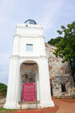 People visit at St. Paul's Church, Malacca Stock Image
