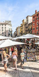 People visit the street markets in Verona Stock Photo