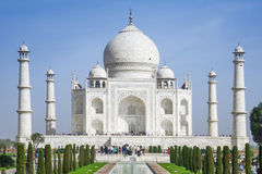 The people visit Taj Mahal Stock Images