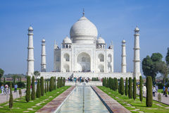 The people visit Taj Mahal Royalty Free Stock Image