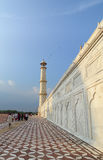 People visit the Taj Mahal in Agra, India. The Taj Mahal is an ivory-white marble mausoleum on the south bank of the Yamuna river in the Indian city of Agra Royalty Free Stock Photo