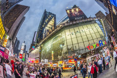 People visit Times Square, featured with Broadway Theaters and h Stock Photography