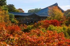 People visit Tofuku-ji Temple Royalty Free Stock Photography