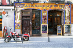 People visit typical Spanish restaurants in Madrid Royalty Free Stock Images