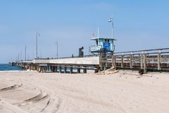 People Visit Venice Beach Fishing Pier in Los Angeles County Royalty Free Stock Photos