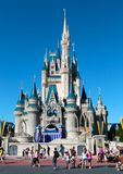 People visit Walt Disney's Magic Kingdom Royalty Free Stock Photos