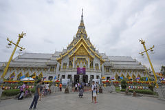 People visit wat sothorn Royalty Free Stock Photos