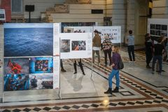 World Press Photo exhibition in Budapest Stock Image