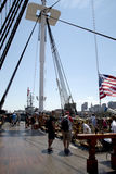 People visit USS Constitution  Royalty Free Stock Images