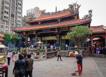 People visit the Zhongshan temple in Taipei, Taiwan.  Royalty Free Stock Photos