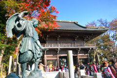 People visited The ancient temple at Mt.Takao in Kanto area. TOKYO,JAPAN - NOV 23: People visited The ancient temple at Mt.Takao in Kanto area nearby Tokyo Royalty Free Stock Image