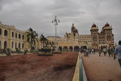 People visited Mysore Palace during republic day Royalty Free Stock Images