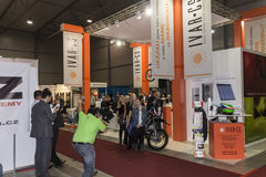 People visiting AquaTherm 2012 in Prague Stock Image
