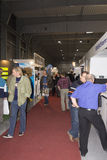 People visiting AquaTherm 2012 in Prague Stock Photo