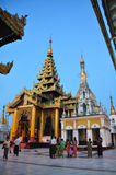 People visiting in the area of the Shwedagon Pagoda in Yangon,My Royalty Free Stock Photo