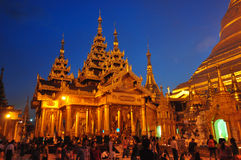 People visiting in the area of the Shwedagon Pagoda in Yangon,My Royalty Free Stock Images