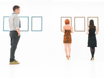 People visiting art museum Royalty Free Stock Image
