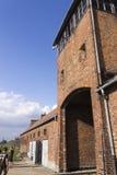 People visiting Auschwitz II -Birkenau Extermination camp Royalty Free Stock Image
