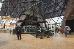 People visiting Belgium pavilion at Expo 2015 in Mialn, Italy Stock Image