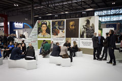 People visiting Bit 2014, international tourism exchange in Milan, Italy Stock Photos