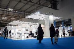 People visiting Bit 2014, international tourism exchange in Milan, Italy Royalty Free Stock Photography