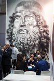 People visiting Bit 2014, international tourism exchange in Milan, Italy Stock Image