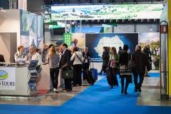 People visiting Bit 2014, international tourism exchange in Milan, Italy Royalty Free Stock Images