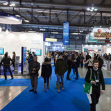 People visiting Bit 2014, international tourism exchange in Milan, Italy Stock Photography
