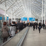 People visiting Bit 2014, international tourism exchange in Milan, Italy Royalty Free Stock Photo