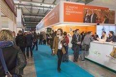 People visiting Bit 2015, international tourism exchange in Milan, Italy Stock Photos