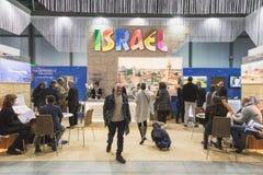 People visiting Bit 2015, international tourism exchange in Milan, Italy Royalty Free Stock Images