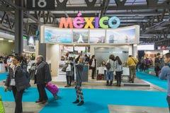 People visiting Bit 2015, international tourism exchange in Milan, Italy Royalty Free Stock Photos