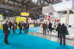 People visiting Bit 2015, international tourism exchange in Milan, Italy Stock Photo