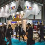 People visiting Bit 2015, international tourism exchange in Milan, Italy Royalty Free Stock Photo