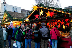People visiting christmas market in Karlsruhe Royalty Free Stock Photo