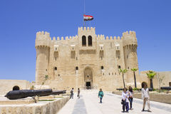 People visiting Citadel of Qaitbay Stock Images