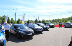 People visiting for the day Renault cars in Krasno Royalty Free Stock Photography
