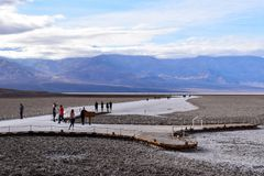 Badwater Basin in the Death Valley royalty free stock photo