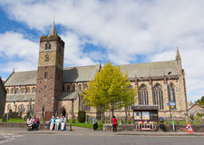 People visiting Dunblane Cathedral Scotland UK Stock Photos