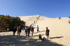 People visiting Dune of Pyla Stock Image