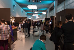 People visiting Esxence 2014 in Milan, Italy Stock Photography