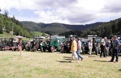 People visiting exibition in Schwarzenberg Stock Photos