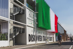 People visiting Expo 2015 in Milan, Italy Stock Photography
